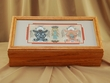 Native American Navajo Sand Painting -Oak Box  (1)