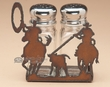 Western Salt & Pepper Shaker Set -Team Ropers  (SP7)