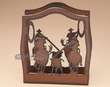 Western Metal Art Napkin Holder -Team Ropers  (SP1)