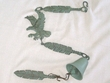 "Iron Art Cast Wind Chime 44"" -Eagle Feather"
