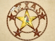 "Rustic Metal Texas Star 16"" -Kokopelli  (34)  CLEARANCE"