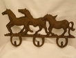 Western Iron Art Hook Rack -Running Horses