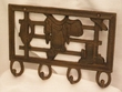 Western Iron Art Hook Rack -Western Fence