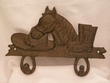 Western Iron Art Hook Rack -Horse