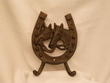 Western Iron Art Hook Rack -Horseshoe & Horses