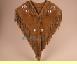 Native American Style Leather Chaleco Dance Shirt - Horse