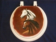 Western Painted Toilet Seat -Horses (5)  CLEARANCE