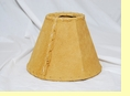 "Rustic Leather Chandelier Lamp Shade - 6"" Sand Pig Skin"