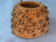 "Native Kumeyaay Mission Indian Pine Needle Basket 4x3.5""  (kb1)"