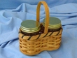 Handmade Amish Basket -Jar Basket  (EM31)