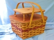Handmade Amish Basket -Medium Picnic Basket  (EM34)