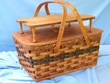 Handmade Amish Basket -Large Picnic Basket  (EM35)