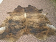 "Brindle Cow Hide Rug 88""x103"" -Tiger Stripe (1)"