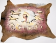 Southwestern Hand Painted Hide 29x27 -Chief  (ph62)