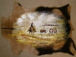 "Western Hair On Hide Wall Hanging 26""x38"" -Cow Poke  (33)"