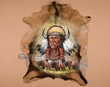 "Western Hide Wall Hanging 26""x31"" -Crazy Horse  (55)"