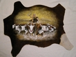 Painted Cow Hide for Western Decor - Cattle Trail  (PH29)