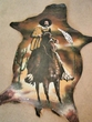 "Western Painted Hide Wall Decor 26""x36"" -Pancho Villa  (57)"