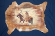 Hand Painted Goat Hide 29x24 - Indian Brave