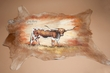 Painted Skin for Western Decor 28x35 -Steer  (36)