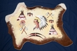 "Western Painted Calf Hide Wall Hanging 35""x26"" -Native  (39)"