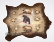 Southwest Painted Cow Hide - Cave Art Bear 27x34 (ph27)