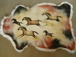 Painted Lamb Skin for Western Decor - Horses  24x36 (ph3)