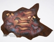 Painted Cow Hide for Western Decor  34x26 - Ponies