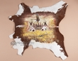 Southwest Decor Cow Hide 38x38 -Indian Village (43)