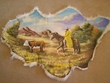 Painted Sheep Skin for Western Decor 40x29 -Cowboy (42)