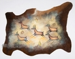 Hand Painted Cowhide Wall Hanging 35x27 -Deer  (P70)
