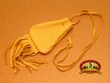 Native American Medicine Pouch -Gold Deer Skin  (99)