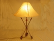 "Western Wrought Iron Lamp 30"" -Indian Arrow"