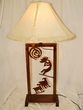 "Wrought Iron Table Lamp 33"" -CLEARANCE  (TL5)"