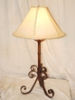 "Wrought Iron Table Lamp 32"" -CLEARANCE  (TL7)"