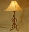 "Southwestern Wrought Iron Table Lamp 32"" -Queen Creek"