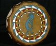 "Lakota Painted Drum 16"" Black Bonnet -Kokopelli  (pd77)"