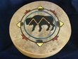 "Painted Native Tarahumara Hand Drum 16"" -Buffalo"