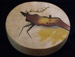 "Native Tarahumara Indian Painted Drum 16""  -Elk"