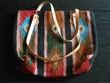 "Rustic Western Wool Purse 18""x16"""