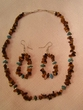 "Native American Navajo Jewelry -Necklace & Earring Set 16"" (145)"