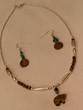 "Native American Navajo Jewelry -Necklace & Earring Set 17"" (159)"