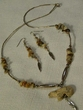 "Native American Navajo Jewelry -Necklace & Earring Set 21"" (160)"