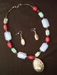 "Native American Navajo Jewelry -Necklace & Earring Set 21"" (172)"