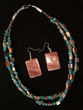 "Native American Navajo Jewelry -Necklace & Earring Set 20"" (177)"