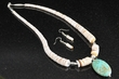 "Native American Jewelry -Necklace & Earring Set 19""  (35)"