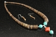 "Native American Jewelry -Necklace & Earring Set 16""   (59)"