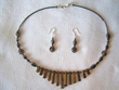 "Native American Navajo Jewelry -Necklace & Earring Set 17"" (137)"