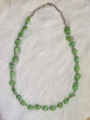 "American Indian Jewelry -21"" Green Turquoise Necklace"