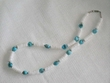 "American Indian Necklace -20"" Turquoise & Shell (12)"